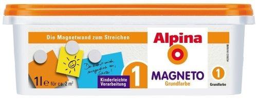 Alpina Magneto Grundfarbe 1 L. - Grundanstrich für magnetische Farbflächen,...