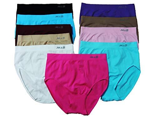 MB 5 Stück Damen Slips Größe 34,36,38,40,42,44,46,48,50,52,54,56,58,60,62,64...
