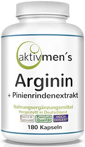aktivmen´s Arginin plus Pinienrindenextrakt hochdosiert - 180 Kapseln -...