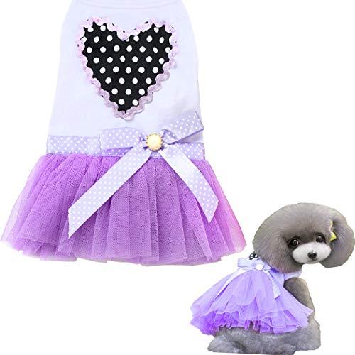 Hundekleid, Haustier Hund Tutu Kleid Rock for Welpe Katze Katze Süße...