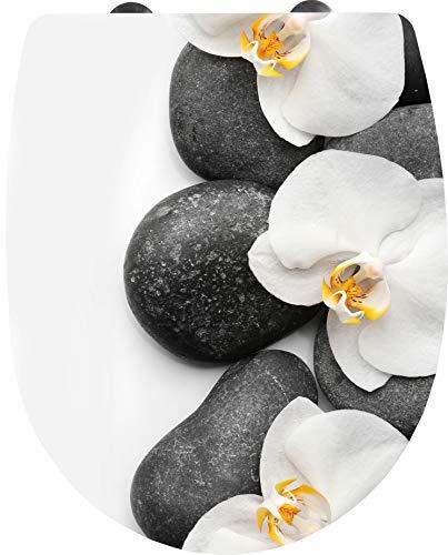 Cornat WC-Sitz 'Orchidee' - Ansprechendes Design - Pflegeleichter Thermoplast -...