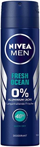 NIVEA MEN Fresh Ocean Deo Spray im 6er Pack (6x 150 ml), Deo ohne Aluminium mit...