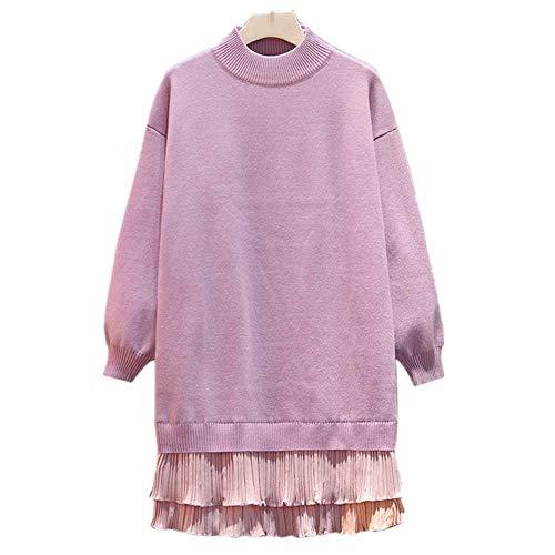 YNPM Große Größe Herbst und Winter Urlaub Zwei Pullover Damen Baumwolle Rock...