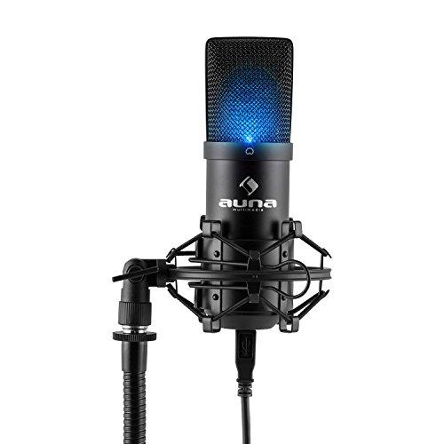 Kondensator Mikrofon für Studio-Aufnahmen inkl. Spinne