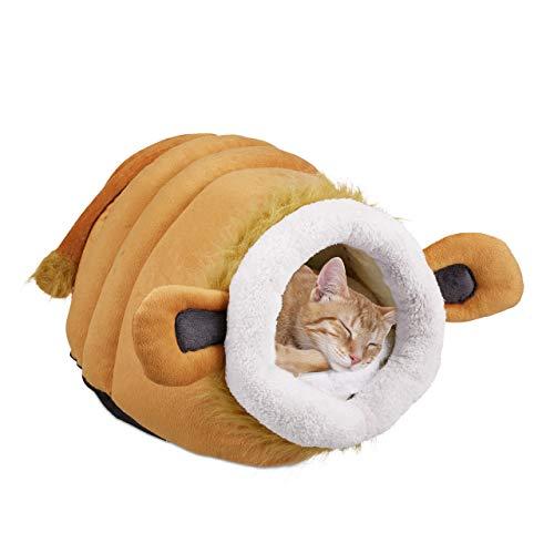 Relaxdays Katzenhöhle, Flauschige Kuschelhöhle für Katzen und kleine Hunde,...
