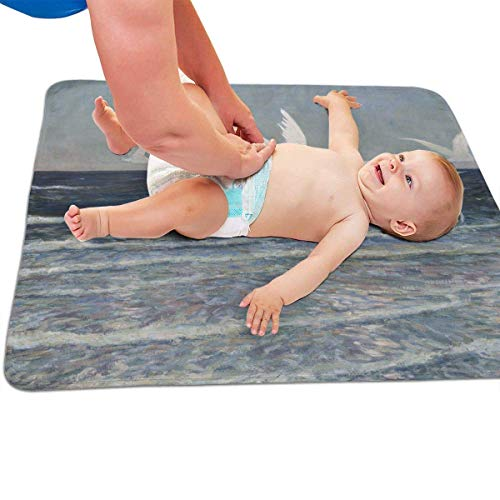 Zcfhike Baby Portable Diaper Changing Pad Sea Egret Urinary Pad Baby Changing...