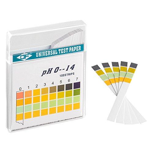 ECENCE pH Teststreifen 100 Stck, Lackmus Testpapier, Messbereich 0-14, Indikator...