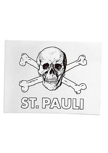 FC St. Pauli Aufkleber Totenkopf transparent, Autoaufkleber, Sticker - Plus...