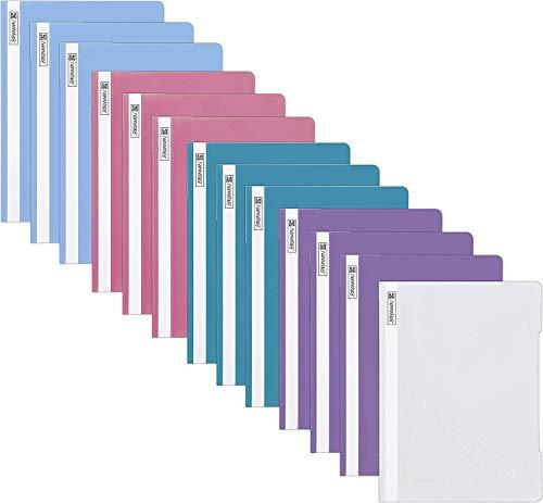 13 Brunnen Schnellhefter A4 farbig sortiert PP-Folie glasklares Deckblatt [...