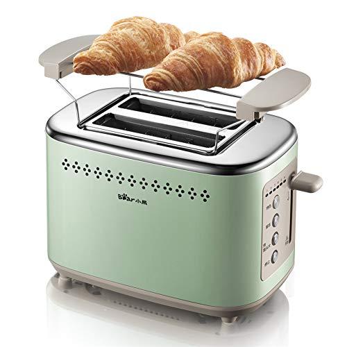 YYEWA Toaster 2-Scheiben Breite Schlitz, Edelstahl Toaster mit 6 Toast...