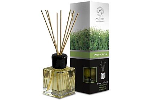 Raumduft Diffuser Lemongrass - Zitronengras 200ml - Glas - mit Naturreines...