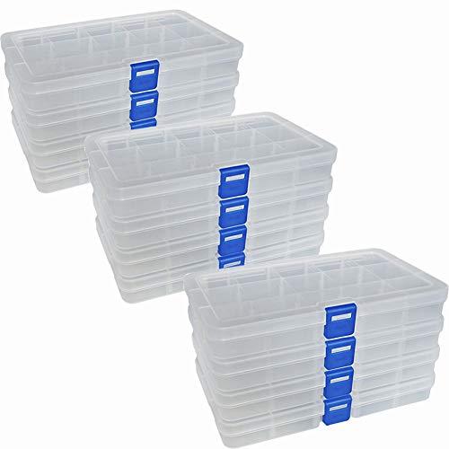 Qualsen Plastik Aufbewahrungsbox Einstellbar Fächer Sortimentskasten...