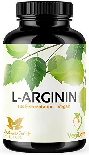 L-Arginin - 365 vegane Kapseln mit 4500mg pflanzlichem L Arginin HCL aus...
