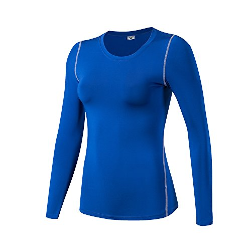 iEventStar Damen-Unterziehshirt, langärmelig, kühl, trocken, 1 Pack: blau,...
