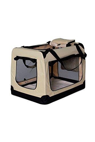 Hundetransportbox Hundetasche Hundebox faltbare Kleintiertasche Farbe Beige...