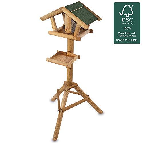 zooprinz stabiles und wetterfestes stehendes Vogelhaus für Wildvögel –...