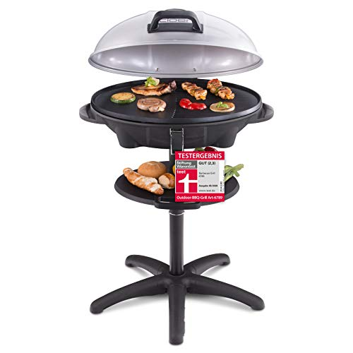 Cloer 6789 Barbecue-Grill, Standgrill mit integriertem Thermometer, Stiftung...