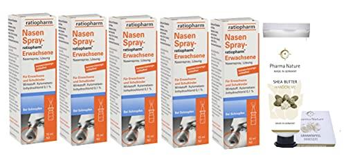 Nasenspray ratiopharm Sparset 5 x 15 ml und einer Handcreme ODER Handseife der...