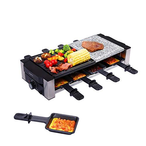 AONI Raclette grill, elektrischer Indoor-Grill Koreanischer BBQ-Grill,...