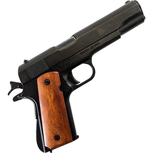 Denix Colt Government M1911A1 schwarz mit dunkelbrauner Griffschale USA 1911