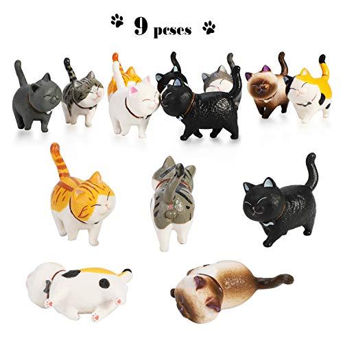 PHOGARY 9 STÜCKE Realistische Katzenfiguren, Lehrreich Kitty Figuren...