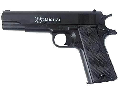 Nerd Clear Softair-Pistole Colt 1911 A1 H.P.A. mit Metallschlitten Federdruck...