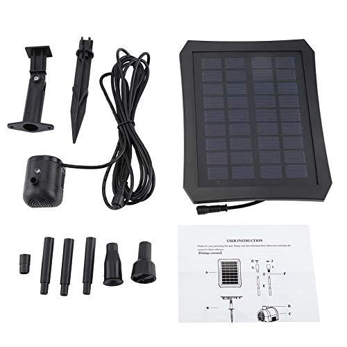 Qiterr Solarwasserpumpe, LED-Farbwechsel-Aufhängungsteich...