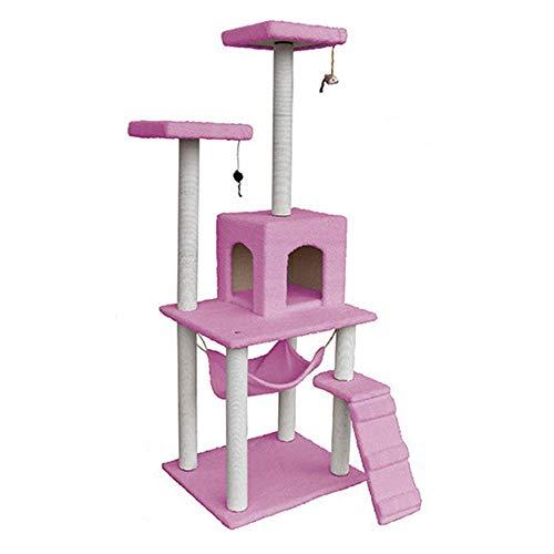 SCHUANG Kratzbaum Cat Condo Mit Hängematte Cat Tower Climbing Scratching 158cm...