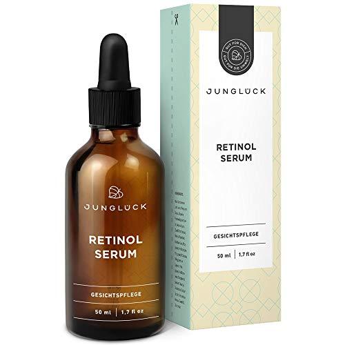 Junglück veganes Retinol Serum   50 ml in Braunglas   Perfekte Pflege bei...