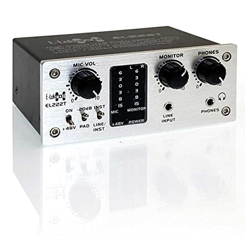 E-Lektron EL222T 2-Kanal USB Audio-Interface | 24Bit/48kHz | Class-A Pre-Amp |...