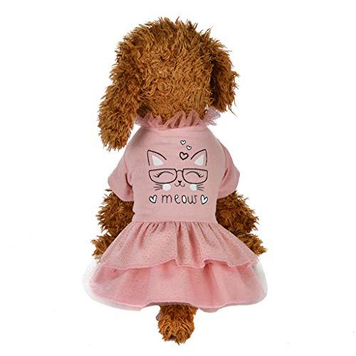 Coversolate Hundekleid für Kleine Hunde Rosa Prinzessin Kleider Tütü Rock...