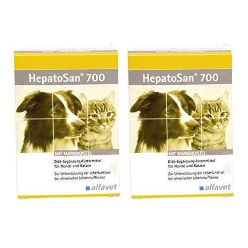 zoodiscount 2x30 Tabletten Alfavet HepatoSan 700 (2er Pack = 60 Tabletten)