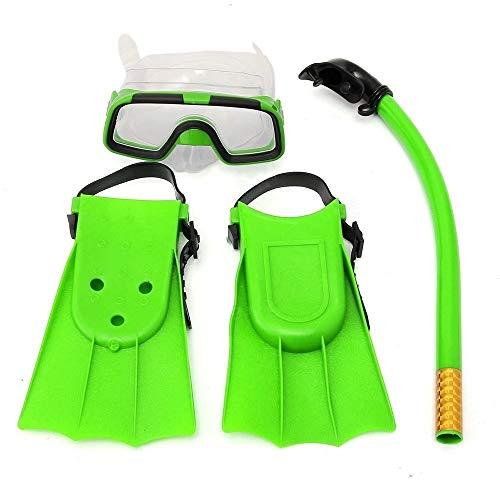 NEHARO Tauchmasken Junior Schnorchel Set Taucherbrille Goggles Flippers Scuba...