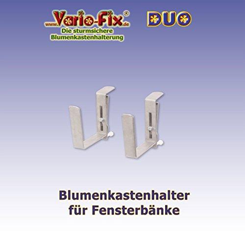 Vario-Fix - sturmsichere Blumenkasten Halter - DUO, für die Montage vor der...