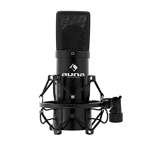 auna MIC-900B, USB Kondensator-Mikrofon, Gaming-Mikrofon, Standmikrofon für...