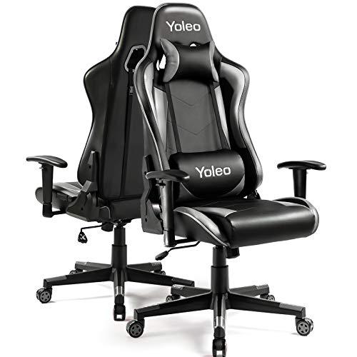 Gaming Stuhl YOLEO Bürostuhl Gamer Ergonomischer Stuhl Einstellbare Armlehne...