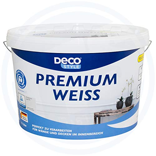 Deco Style Premiumweiß Innenfarbe Wandfarbe 11 Liter matt 77m² Farbe weiß