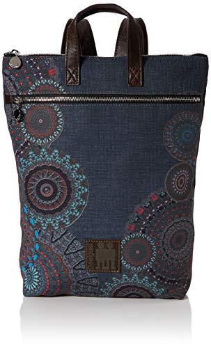Desigual Damen Backpack Arty Stay Baza Rucksackhandtasche, Grau (Gris Medio),...