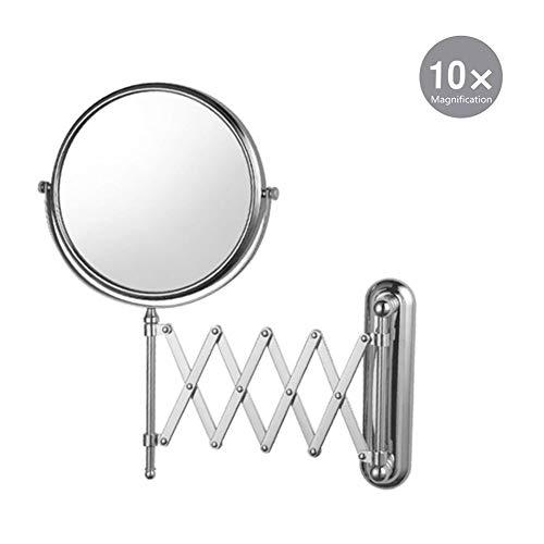XNDCYX Kosmetikspiegel 10X Fach Vergrößerung Schminkspiegel, Wandmontage...