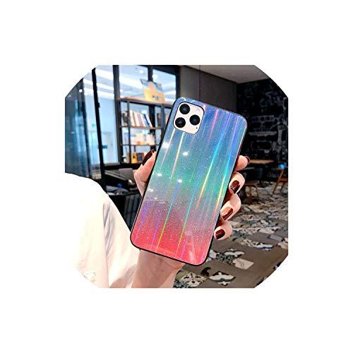 Gradient für iPhone 11 Pro Max Hülle Glänzend gehärtetes Glas Glitzer Case...