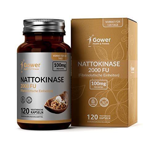 Nattokinase-Kapseln – Enzyme aus Natto (fermentierten Sojabohnen) | 120 vegane...