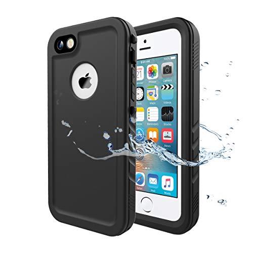 Cozycase Wasserdicht Hülle für iPhone SE, Schutzhülle Ganzkörper Rugged Case...