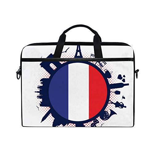 BEITUOLA 15-15.4 Zoll Laptop Taschen,Frankreich Flagge Silhouette...