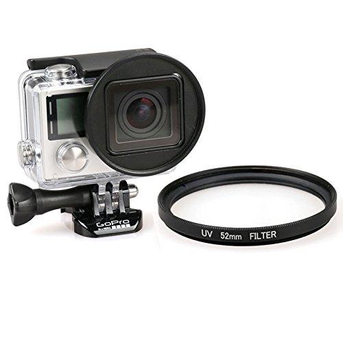 Objektivfilter 52 mm runder UV-Objektivfilter für GoPro Hero 4/3+