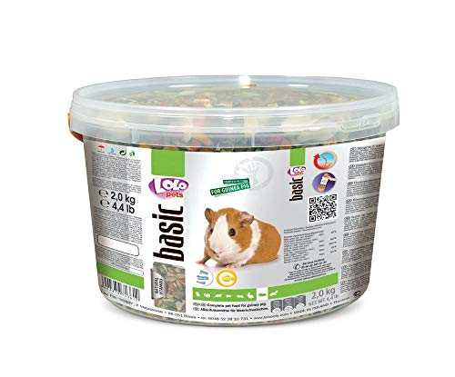 Lolo Basic-Komplett-Feed Für Meerschweinchen 3 L, 2 Kg Eimer, Getreide, Futter,...