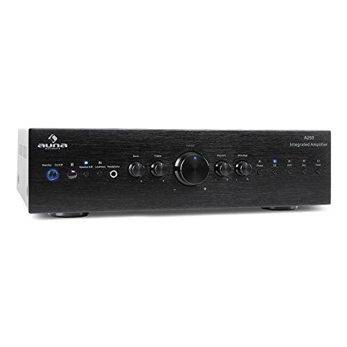 auna AV2-CD708 - Stereo HiFi Heimkino, Audio-Verstärker, 125 Watt RMS Leistung,...
