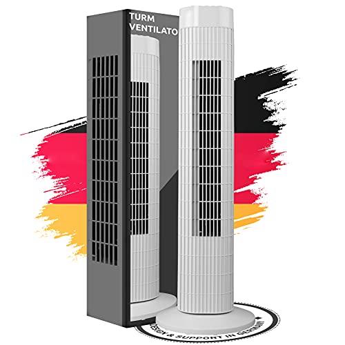 Turmventilator Säulenventilator leise 3 Stärke Stufen Ventilator Schwenkmodus...