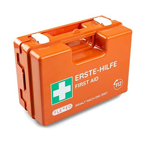 Erste-Hilfe-Koffer für Betriebe mit Inhalt nach DIN 13157 in orange,...
