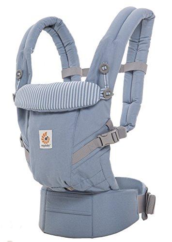 Ergobaby Babytrage für Neugeborene bis Kleinkind Azure Blue, Adapt 3-in-1...