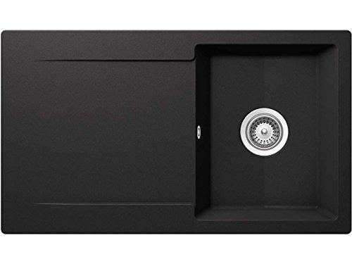 Schock Epure D-100 A Nero Granit-Spüle Schwarz Auflage Küchenspüle...